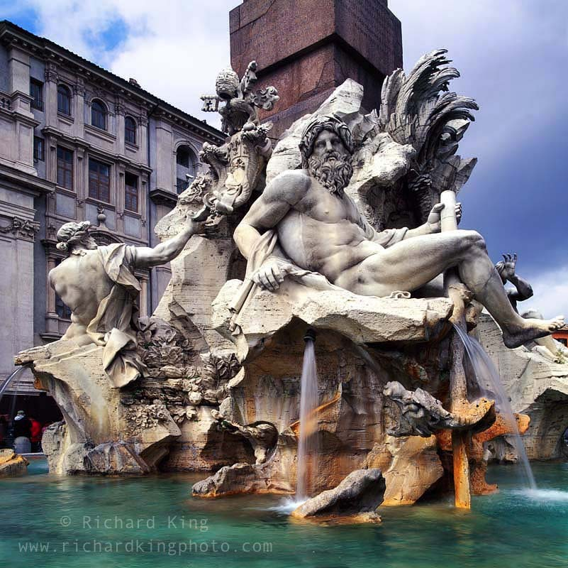 Piazza Navona, Rome, ItalyAs seen in the movie {quote}Angels & Demons{quote}Image no: 050104.03Click HERE to Add to Carthttp://bit.ly/9p0ln2