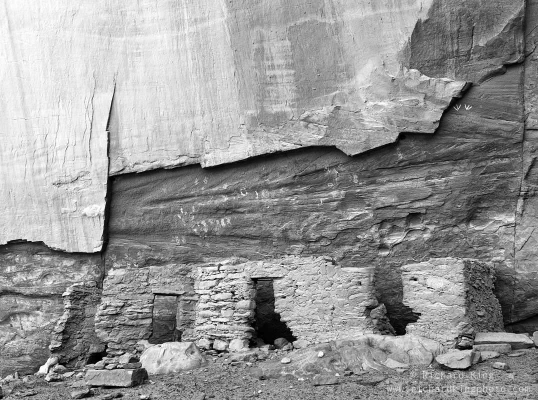 Anasazi Ruin, Ancient Pueblo Ruin, Monument Valley, Navajo Nation, Arizona, USA, fine art print, giclee, pigment-on-paper, http://www.photoshelter.com/c/richardkingphoto/image/I0000DPwanKn0PZs