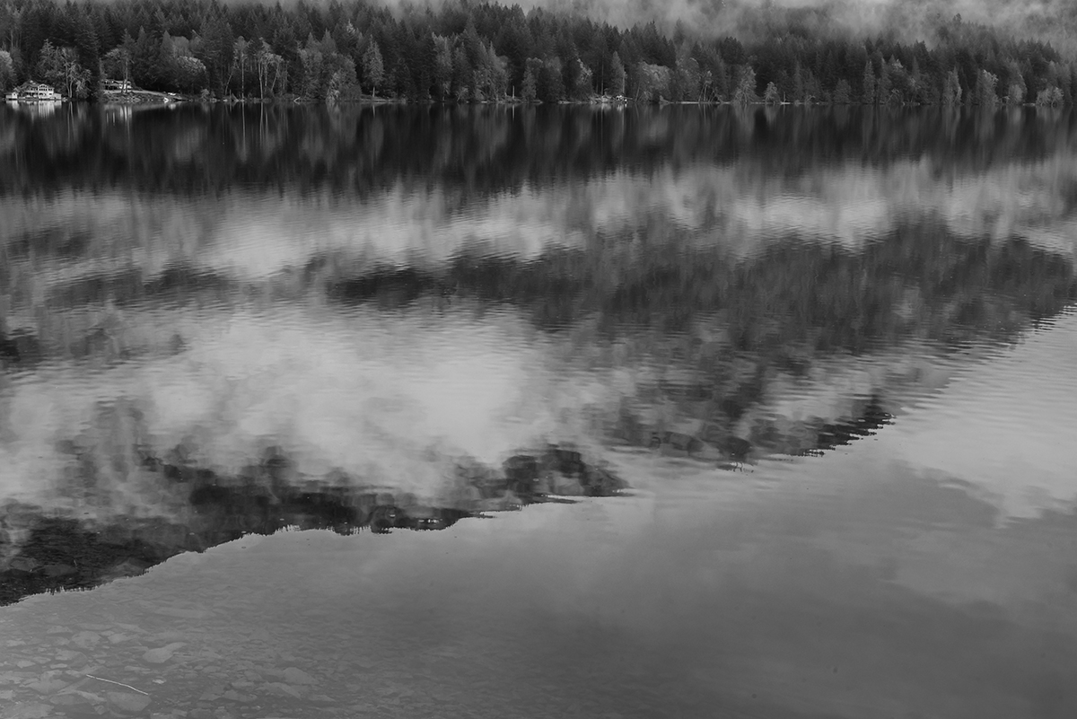 Winter Landscape photographs of Crescent LakeImage No: 17-003368-bw    Click HERE to Add to Cart