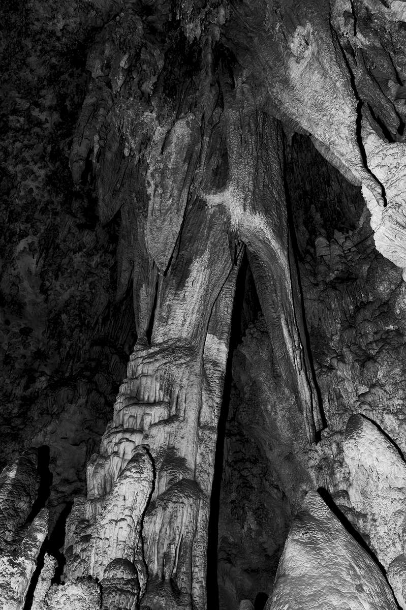 Images of Carlsbad Caverns National Park World Heritage Site, New MexicoImage no: 17-021367-bw   Click HERE to Add to Cart