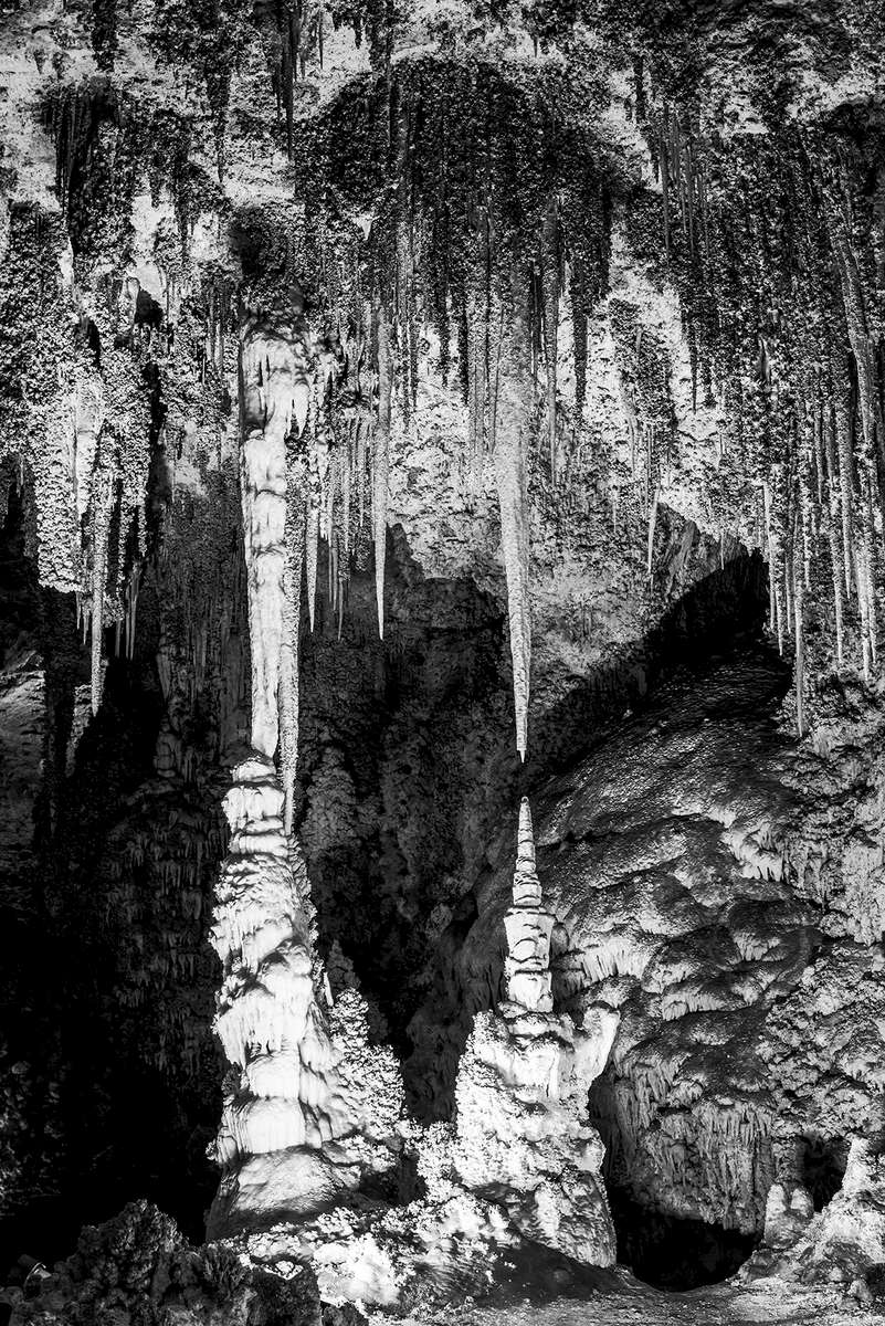 Images of Carlsbad Caverns National Park World Heritage Site, New MexicoImage no: 17-021575-bw   Click HERE to Add to Cart