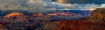 Turbulent Clouds, Winter Storm, Evening Sun breaking through illuminating the mesas and temples. Available as fine art print, canvas gallery wrap or licensed use