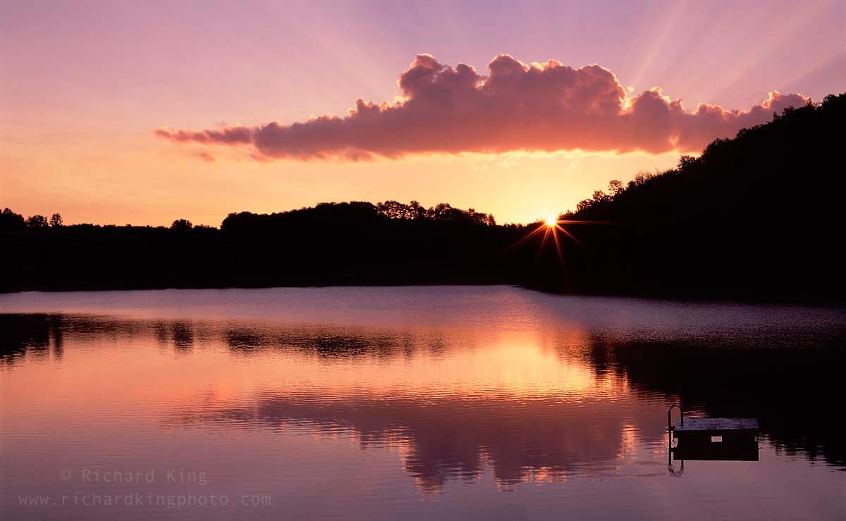 Sunrise at Canton Lake: Sunrise amp; Sunset Images: Photographs by