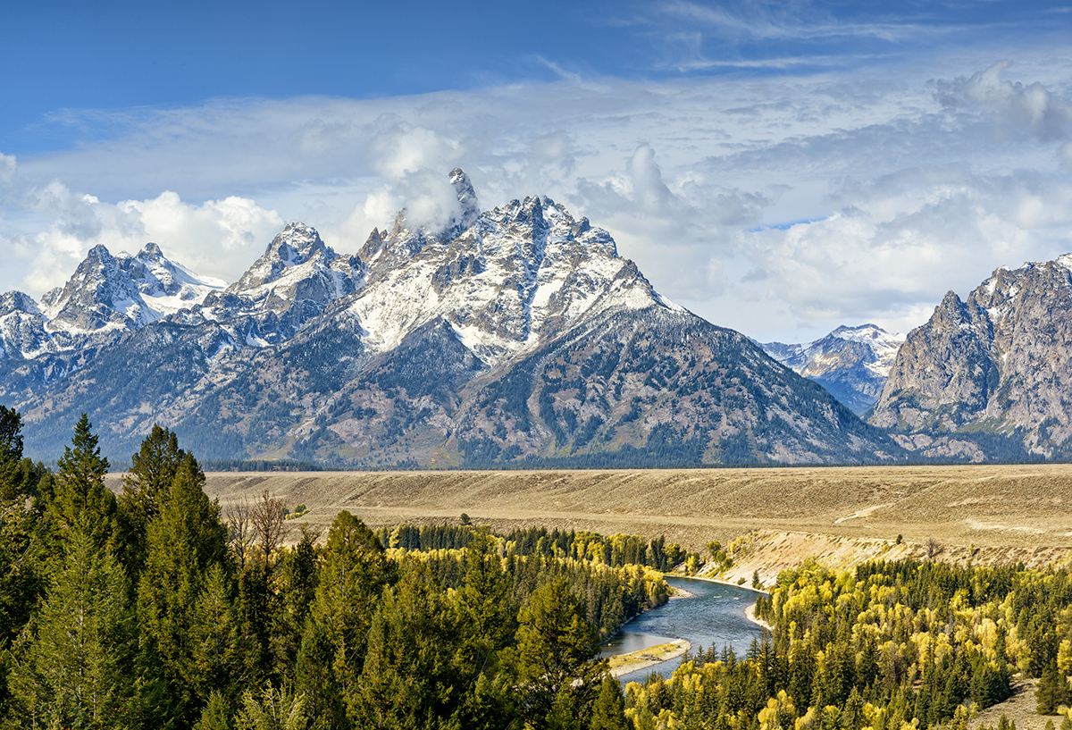 Grand Tetons overlooking the Snake RiverImage no: 17-018147   Click HERE to Add to Cart