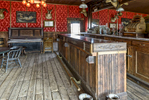 Photograph of Genuine old log cabins and businesses from the Wild West Moved to The Museum and RestoredImage No: 17-017102  Click HERE to Add to Cart