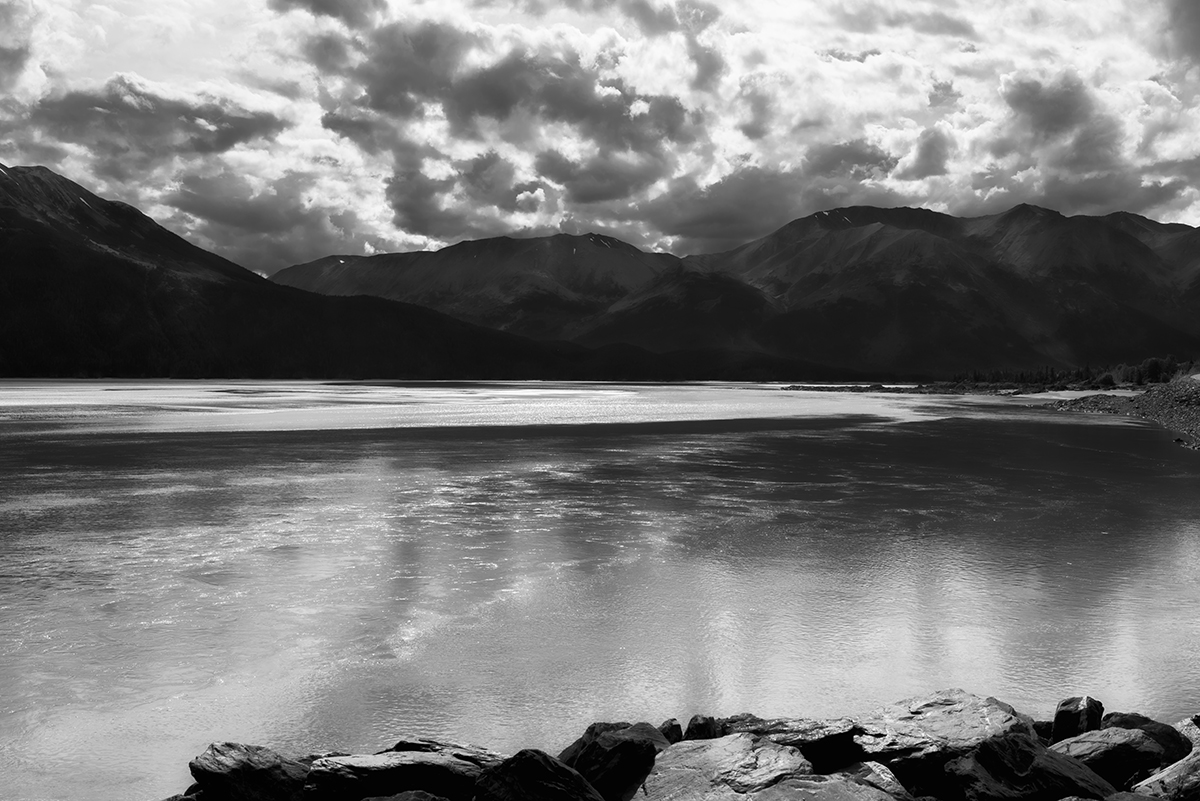 Seward Highway Near Anchorage, AlaskaImage no: 16-030264-bw   Click HERE to Add to Cart