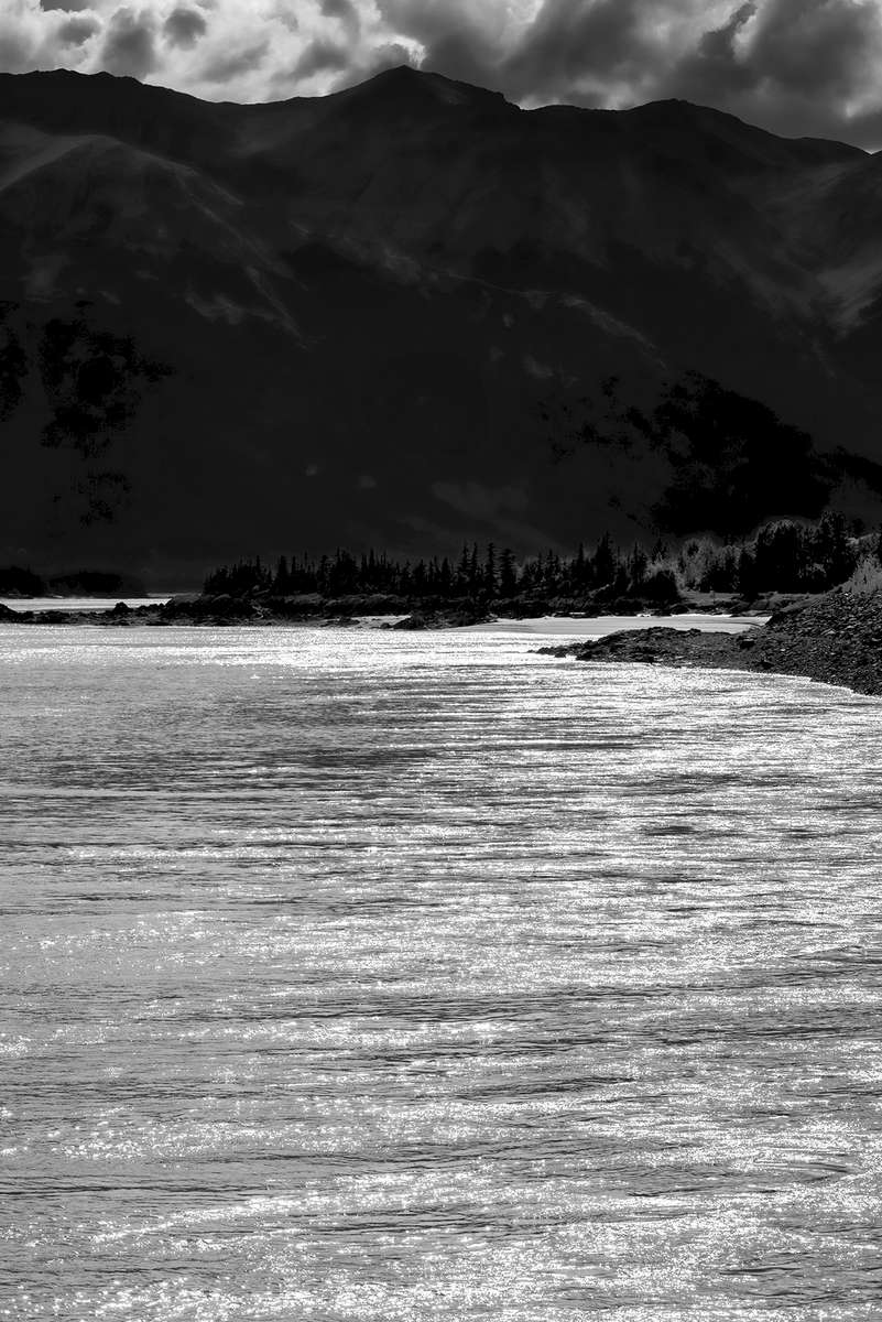 Seward Highway Near Anchorage, AlaskaImage no: 16-030291-bw   Click HERE to Add to Cart