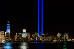 September 11th Memorial Lights & New World Trade CenterImage No:12-029067 Click HERE to Add To Cart