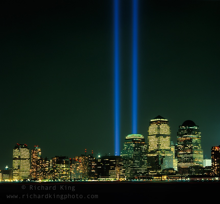 Twin Towers Memorial lightsImage no: 030664.18  Click HERE to add to cart