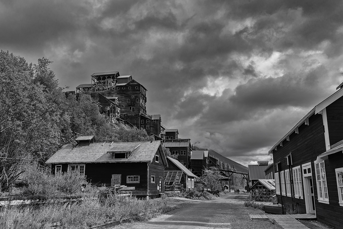 World Heritage SiteKennecott, AlaskaImage no: 16-027838-bw   Click HERE to Add to Cart