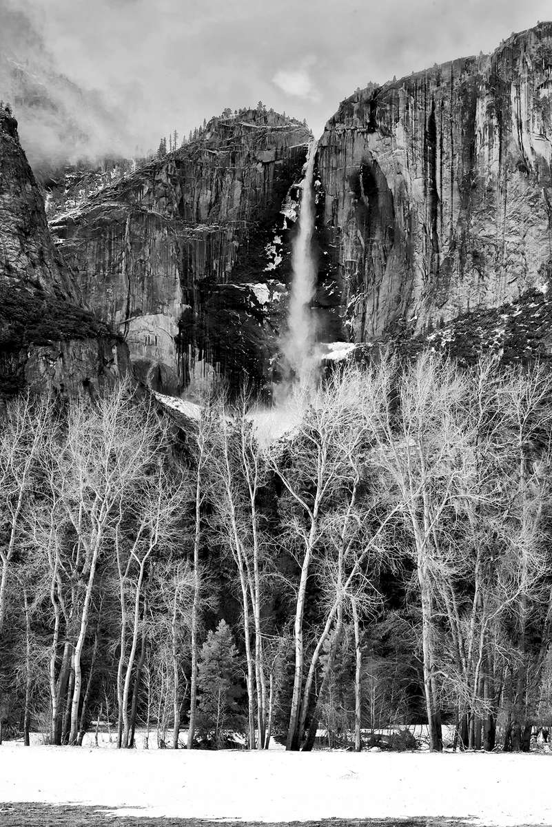 Winter Landscape photographs of Yosemite National Park, CA, USAImage No: 19-001945bw   Click HERE to Add to Cart