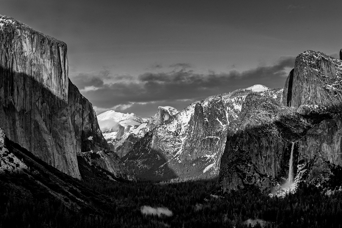 Winter Landscape photographs of Yosemite National ParkImage No: 17-003241-bw   Click HERE to Add to Cart