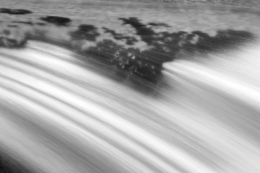After getting in the wider views, I will if time permits, get the telephoto out and start extracting parts of the stream or waterfalls. Much of the time, these shots are abstract and less obvious to the viewer but they also push my ability to visualize to a different level.