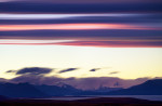 A 2 hour hike up Cerro Calafate brought me high enough to witness the sunset with El Calafate way at the base of hills.