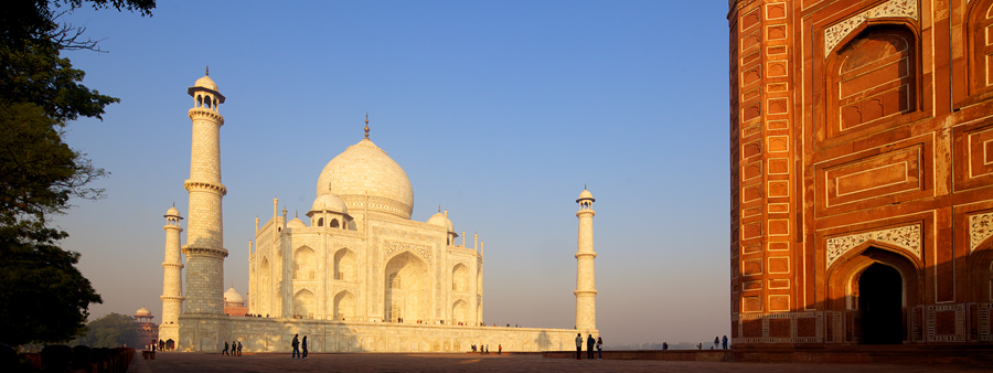 The Taj Mahal was a location we were looking forward to getting but the security checks slowed us down too much. The lighting however made up for it and using a tilt shift lens, the buildings were kept vertical.