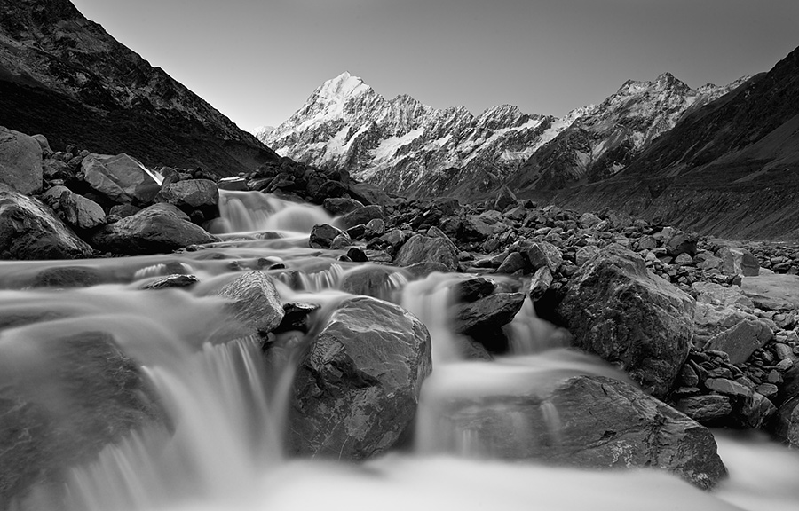 Perhaps my favourite image from the few days spent shooting Mount Cook. It would have been fantastic to have clouds but we always wish for more right?