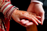 Henna and bracelets are two Indian bridal traditions.