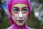 Emily McCarthy plays {quote}the pink ha{quote}, a slippery surface performer in the Cirque du Soleil show {quote}Varekai{quote}.