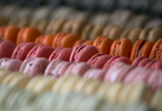 Nuvrei's Mac Bar in Portland, located a level below the cafe, displays their outstanding variety of macarons.