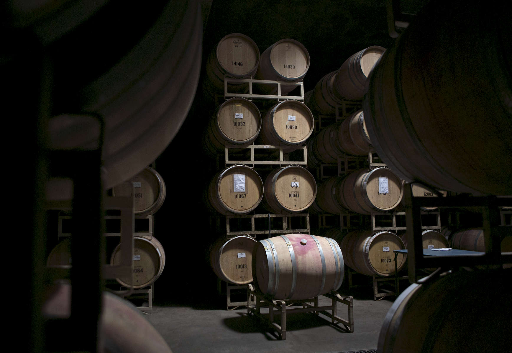 The LEED-certified barrel cellar at Sokol Blosser Winery, constructed in 2002.