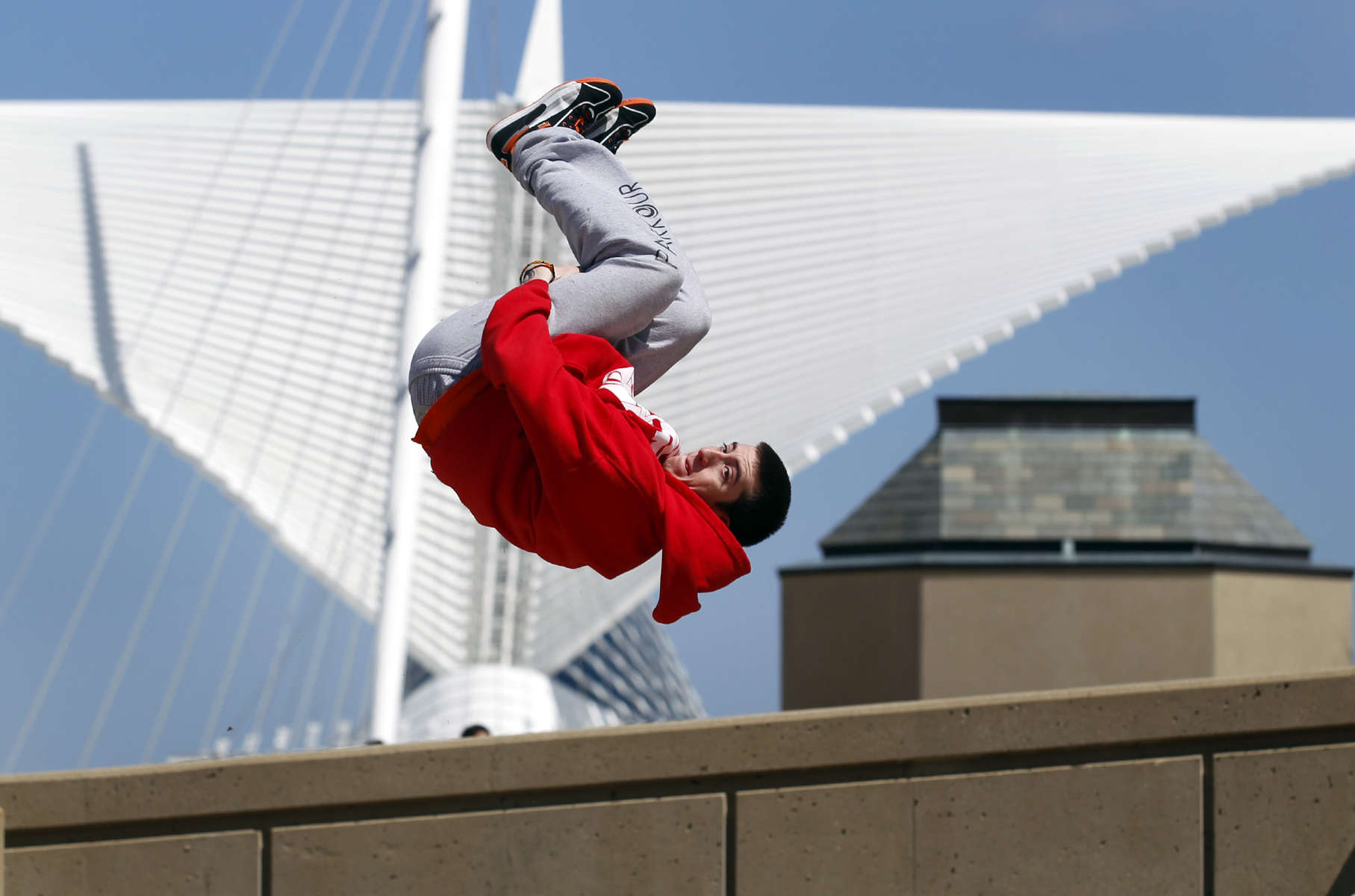 Parkour practitioners see the entire world as a playground. They flip, leap and fly over obstacles, finding joy in the challenge and moving without rules. Wisconsin is home to a growing group of traceurs.