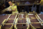 Edwards Instrument Company of Elkhorn, WI., is one of three major players in the trombone market. Using horns made by their parent company, Getzen, the company works with musicians to build customized instruments.