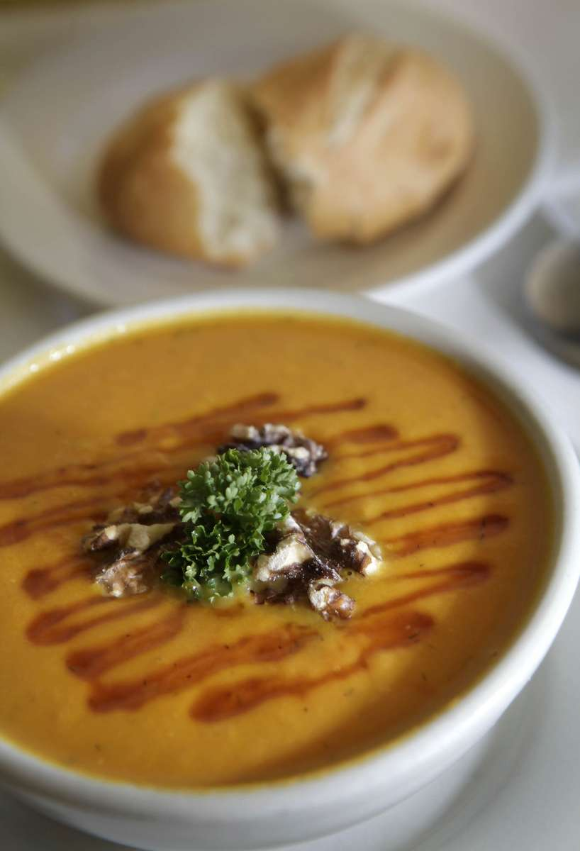 uask-10 fea kwg 1-1--Roast Butter Carrot Soup at Cafe Lulu features the flavor of carrots in a creamy soup.PHOTO: KRISTYNA WENTZ-GRAFF/KWENTZ@JOURNALSENTINEL.COM
