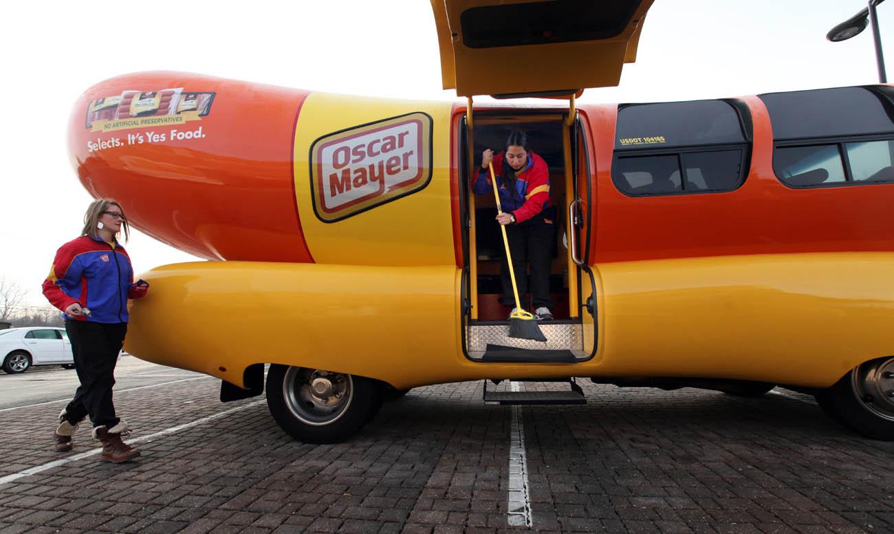 Take a ride in the Oscar Mayer Wienermobile!