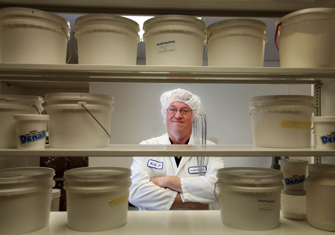 Testing of new flavors happens in the research lab at Denali Ingredients, where food scientists, including Kim Premo, vice president for research and development,develop all sorts of new tempting flavorings for ice cream.