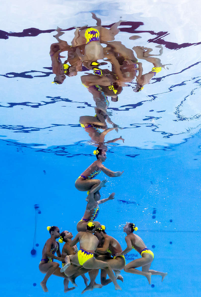 Slovakia compete during the Synchronised Swimming Team Free, preliminary round on day six of the Budapest 2017 FINA World Championships on July 19, 2017 in Budapest, Hungary