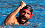 George Torakis of Canada celebrates during the Men's Water Polo Group A, preliminary round match between Brazil and Canada on day eight of the Budapest 2017 FINA World Championships on July 21, 2017 in Budapest, Hungary.