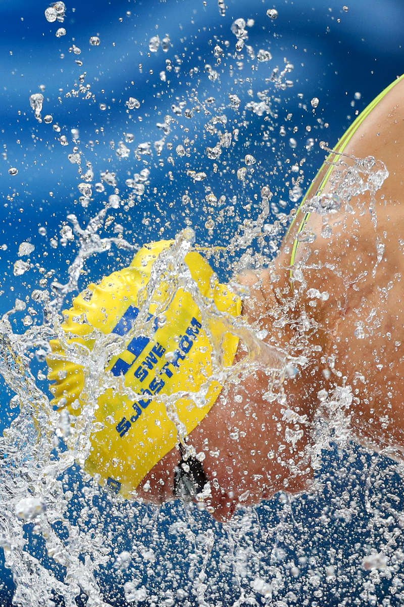 Sarah Sjostrom of Sweden prepares to compete during the Women's 50m Freestyle heats on day sixteen of the Budapest 2017 FINA World Championships on July 29, 2017 in Budapest, Hungary.