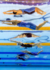 Franziska Hentke of Germany (Top) and Yufei Zhang of China compete during the Women's 200m Butterfly final on day fourteen of the Budapest 2017 FINA World Championships on July 27, 2017 in Budapest, Hungary.