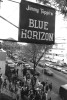 People enter the Jimmy Toppi's Blue Horizon Arena during Fight Night at the Blue Horizon on April 29, 1997 in Philadelphia, Pennsylvania