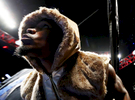 Jermell Charlo enters the ring against Charles Hatley during their WBC junior middleweight title bout at the Barclays Center on April 22, 2017 in New York City.