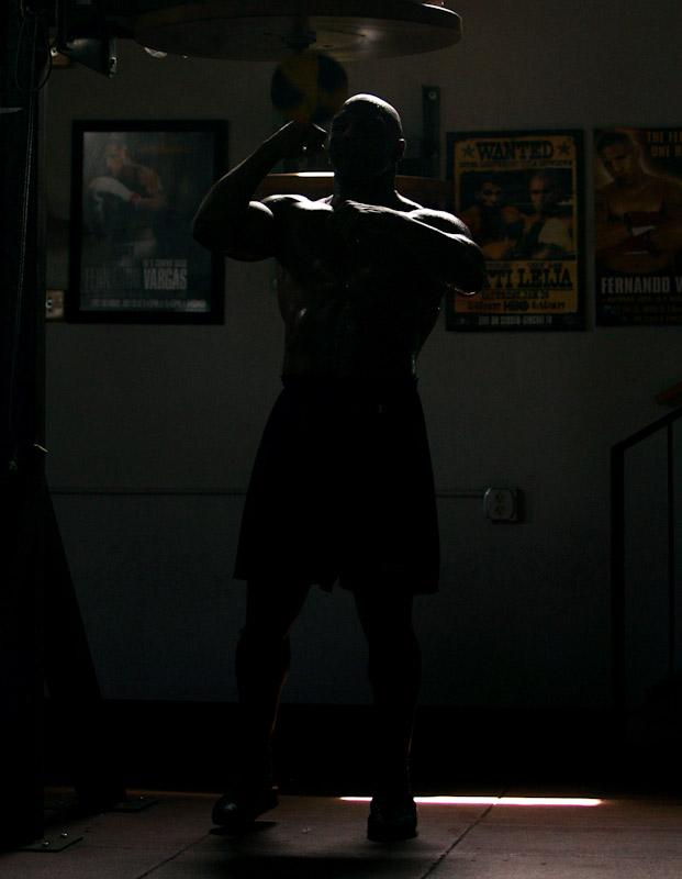 Boxer Mike Tyson trains at Central Boxing Club on May 27, 2005 in Phoenix, Arizona.