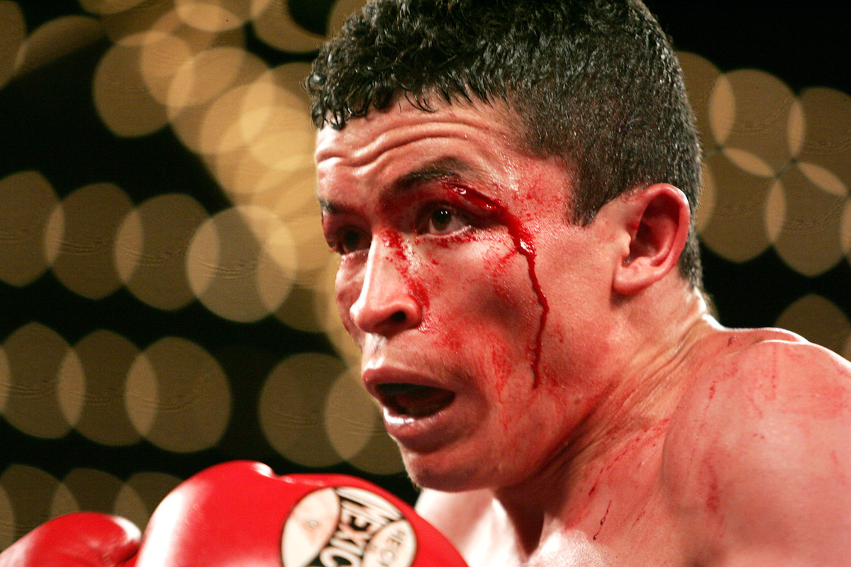 Ulises Solis looks on against Will Grigsby during their fight for the IBF Junior Flyweight Championship at Madison Square Garden January 7, 2006 in New York City. Ulises Solis won a 12 round unanimous decision over Will Grigsby.
