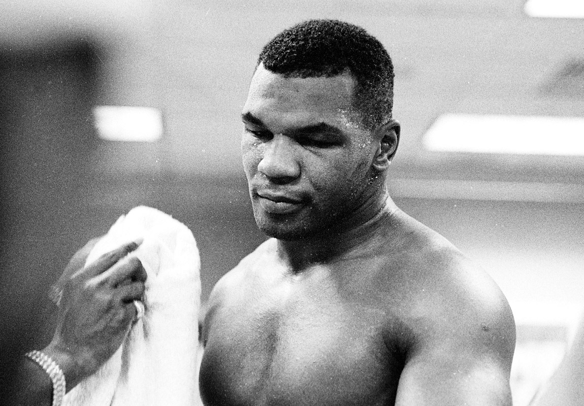 Mike Tyson after a training session in Atlantic City, New Jersey 1991.