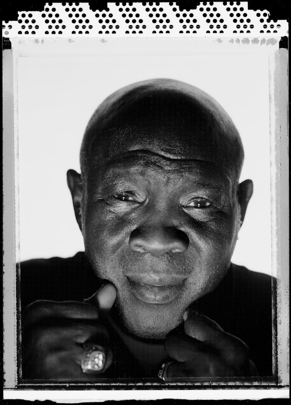 Emile Griffith, former three time world Welterweight Champion and two time Middleweight Champion poses for a portrait at The Waterfront Crabhouse on May 16, 2005  in Long Island City, New York.  Griffith fought from 1958-1977 and was the subject of a recent documentary on his life called Ring of Fire.  He is 67 years old at the time of this photo.