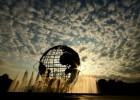 A view of the Unisphere at Flushing Meadows Park in Queens, New York.This is where the soccer games take place.