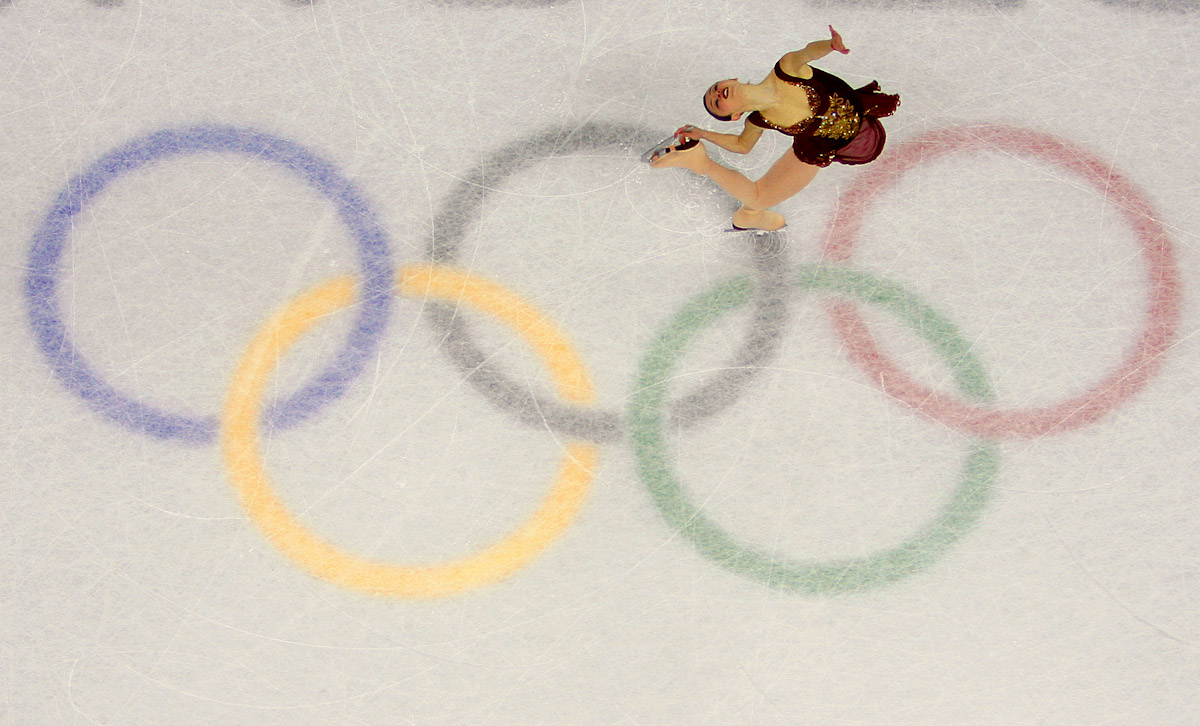Sasha Cohen of the United States performs during the women's Free Skating program of figure skating during Day 13 of the Turin 2006 Winter Olympic Games on February 23, 2006 at Palavela in Turin, Italy.