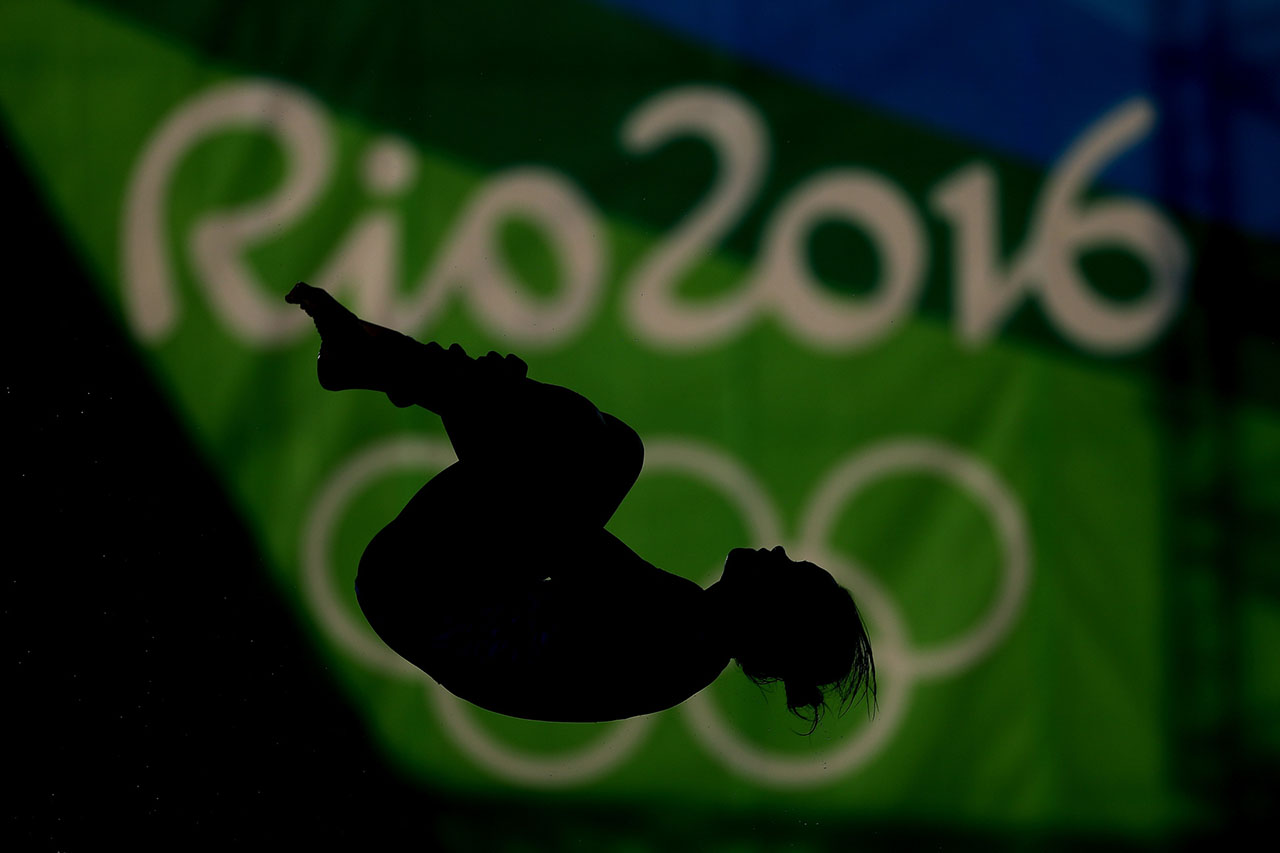 Pandelela Rinong Pamg of Malaysia competes during the Women's 10m Platform Diving preliminaries on Day 12 of the Rio 2016 Olympic Games at Maria Lenk Aquatics Centre on August 17, 2016 in Rio de Janeiro, Brazil.