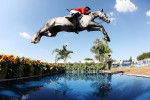Kent Farrington of the USA makes a jump during the Jumping Competition at the Guadalajara Country Club on Day 13 of the  XVI Pan American Games on October 27, 2011 in Guadalajara, Mexico.