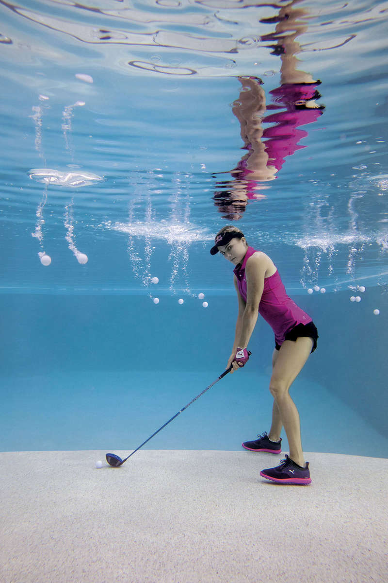 Professional Golfer Lexi Thompson poses for a portrait underwater in Miami Beach, Florida on December 13. 2016.A Part of the {quote}Strive For Greatness{quote} Series Shot for Red Bull