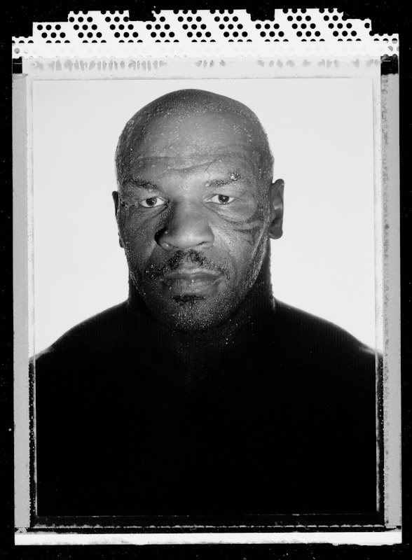 Boxer Mike Tyson, two time former Heavyweight champion of the world poses at the Central Boxing Club on May 27, 2005 in Phoenix, Arizona. He fought from 1985 thru 2005 and is 38 years old at the time of this photo.
