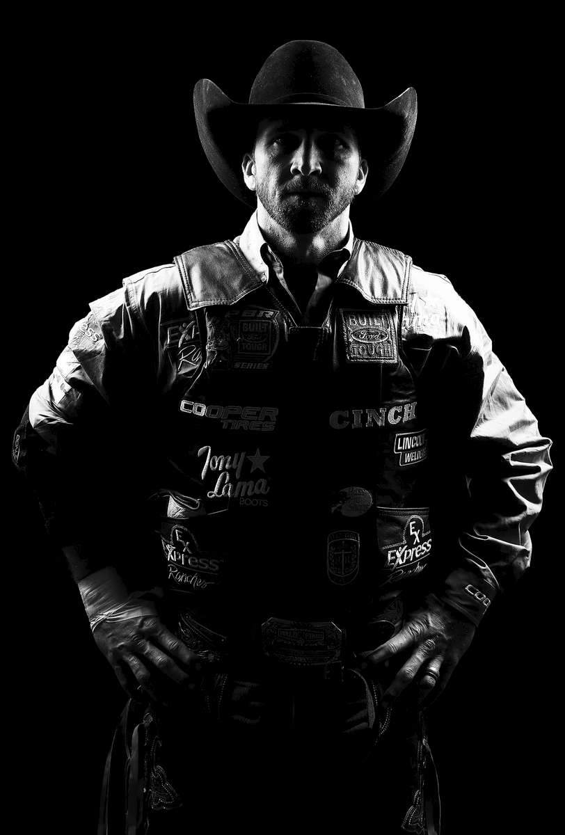 J.W. Harris poses for a portrait during the PBR Monster Energy Buck Off at Madison Square Garden on January 8, 2017 in New York City.