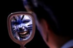 An NFL fan of the Carolina Panthers shows her face paint on September 1, 1996 at Ericcson Stadium in Charlotte, North Carolina.