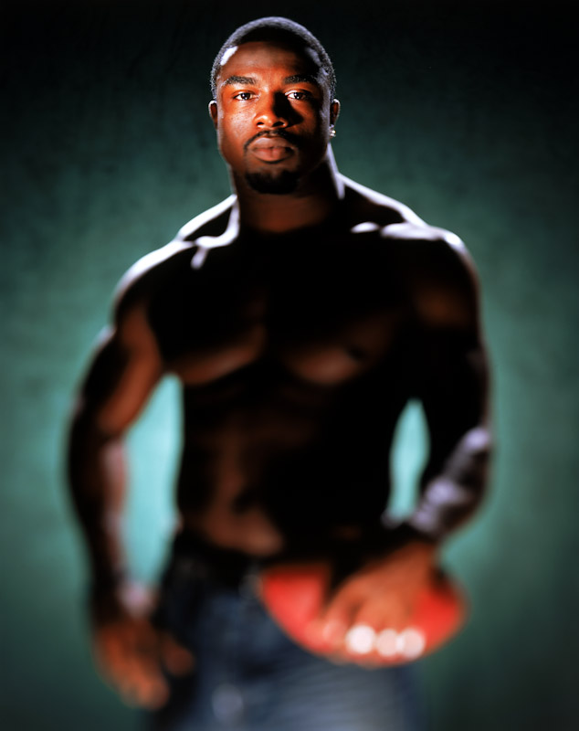 Brian Westbrook, Running Back for the Philadelphia Eagles poses for a portrait on June 14, 2005 in Washington, DC.