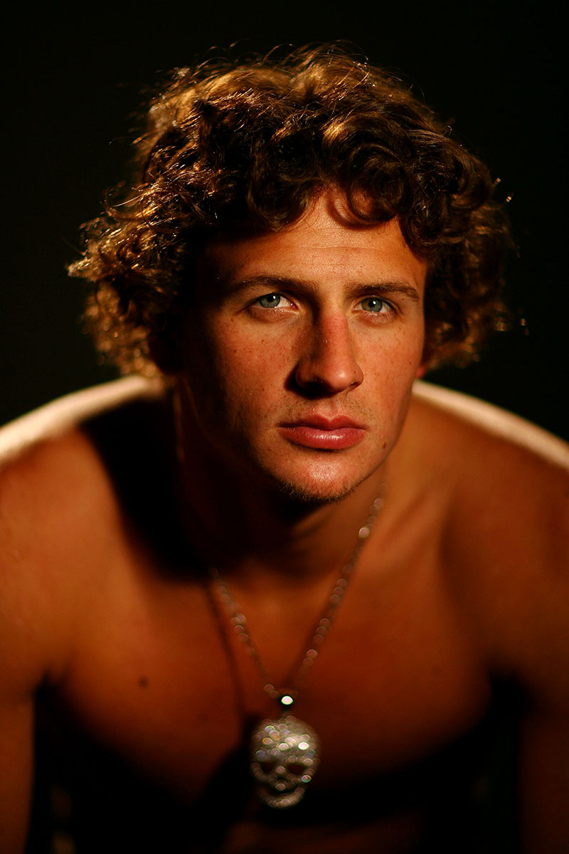 Olympic Gold Medal Swimer Ryan Lochte poses for a portrait during the 2008 U.S. Olympic Team Media Summit at the Palmer House Hilton on April 15, 2008 in Chicago, Illinois.