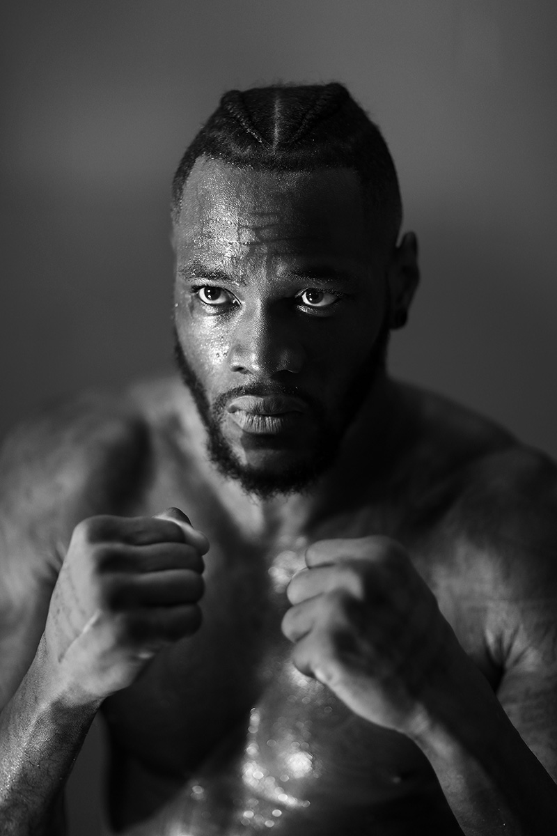 WBC Heavyweight Champion Deontay Wilder poses for a portrait at Gleason's Gym on November 1, 2017 in  the Brooklyn, New York